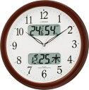 【電波時計 掛け時計 クロック 】 ネムリーナカレンダーM01 4FYA01-006 シチズン CITIZEN 温度・湿度計付電波掛時計 【お取り寄せ】 【30...