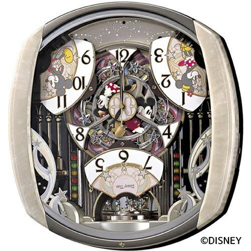 【ディズニー 電波 時計 からくり】 FW563A セイコー SEIKO ミッキーマウス ミニーマウス 電波 時計 壁掛け 掛け時計 メロディ からくり スワロフスキー メロディ 【37%OFF】【お取り寄せ】【Disneyzone】【父の日 ギフト 結婚祝】