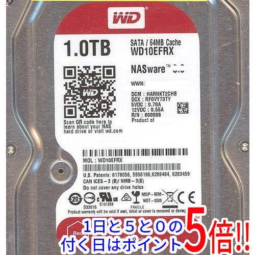 Western Digital製HDD WD10EFRX 1TB SATA600