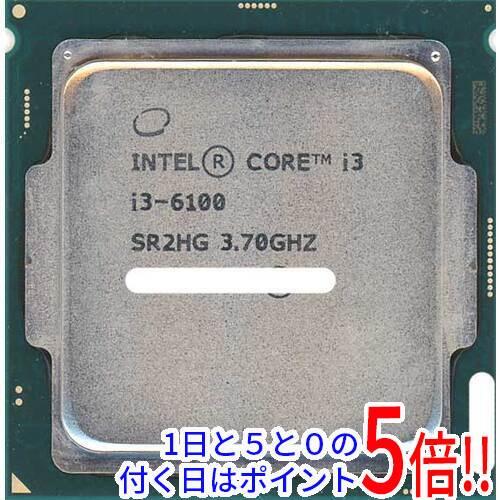 【中古】Core i3 6100 3.7GHz 4M LGA1151 51W SR2HG