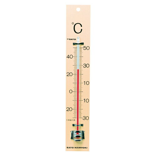 佐藤計量器【AC】板付寒暖計(フック箱) SK−06371510-00★【151000】