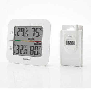 シチズン【CITIZEN】コードレス温湿度計 THD501★【THD501】