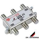 DXアンテナ【F5接栓付き】5分配器10〜2610MHz帯接栓式屋内用 1端子通電 5DM★【5DE1後継】