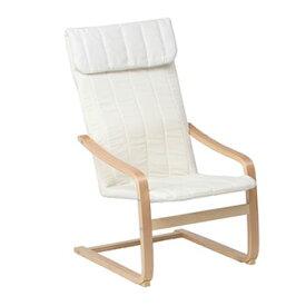 不二貿易【組立が必要】リラックスチェアー スリム 椅子 FUJI-84057(アイボリー)★【A1041E-IV】