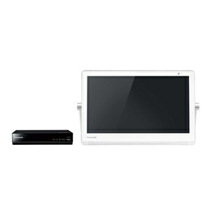 パナソニック【Panasonic】15V型HDDレコーダー付ポータブルテレビ UN-15T7-W(ホワイト)★【UN15T7】