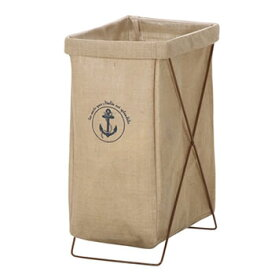不二貿易【洗濯物収納】麻ランドリーボックス 縦型 FUJI-30685 ★【JCB14-0536】
