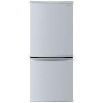 シャープ【SHARP】137L 2ドア冷蔵庫 つけかえどっちもドア SJ-D14D-S(シルバー系)★【SJD14DS】