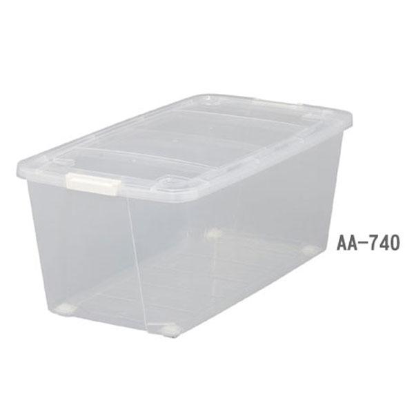 アイリスオーヤマ キャリーストッカー AA-740 クリア整理ボックス タンス 押入れ クローゼット 衣装ケース クリアボックス クリアケース
