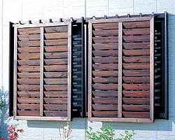 アイリスオーヤマ 【代引不可】【送料無料】ルーバーラティス 60cm幅4枚セットML-609 ダークブラウン