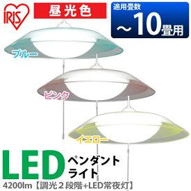 LED ペンダントライト 〜10畳 PLC10D-P2-A PLC10D-P2-P PLC10D-P2-Y アイリスオーヤマ送料無料 LEDペンダントライト 北欧 和風 洋風 リビング用 居間用 シンプル 子供部屋 アンティーク ペンダント ランプ LEDライト ライト 照明 天井 天井照明[cpir]