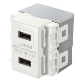 埋込USB給電用コンセント TAP-KJUSB2WUSB コンセント USB 壁埋め込み USBUSB USB壁埋め込み コンセントUSB USBUSB 壁埋め込みUSB USBコンセント サンワサプライ 【TC】