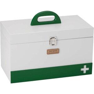 【在庫限り】救急箱 L ホワイト 60058ファーストエイド 救急用品 ボックス 収納 薬入れ イシグロ 【D】[数量限定]