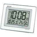 SEIKO〔セイコー〕電波目覚し時計 SQ686W送料無料 置き時計 置時計 アラーム 電波 電波時計 とけい トケイ デジタル …