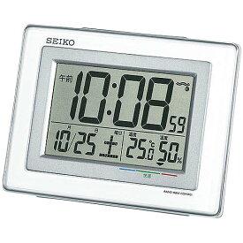 SEIKO〔セイコー〕電波目覚し時計 SQ686W送料無料 置き時計 置時計 アラーム 電波 電波時計 とけい トケイ デジタル 目覚まし時計 新生活 スヌーズ機能 温度・湿度計測機能