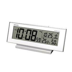 SEIKO〔セイコー〕 電波目覚し時計 SQ762W送料無料 置き時計 置時計 アラーム 電波 電波時計 とけい トケイ デジタル 目覚まし時計 新生活 スヌーズ機能 温度・湿度計測機能 【TC】【HD】