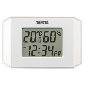 デジタル温湿度計 ホワイト TT-574-WH温度計 湿度計 シンプル 同時表示 見やすい TANITA キッチン リビング 子供部屋 TANITA 【D】