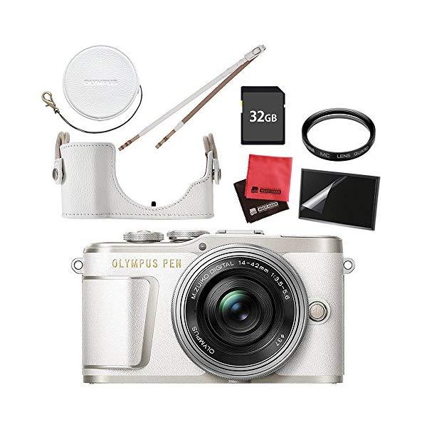 (ケース&フィルターセット) オリンパス PEN E-PL9 14-42mm EZレンズキット ホワイト (ラッピング不可) (快適家電デジタルライフ)