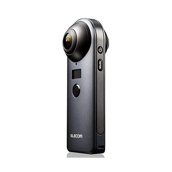 エレコム OCAM-VRW01BK ブラック 360度 カメラスラッシュ4K [ELECOM][360度カメラ](快適家電デジタルライフ)
