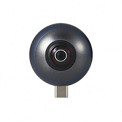 エレコム スマートフォン直挿し360度カメラ OCAM-VRU01BK OMNI shot mini (オムニショットミニ) (VRカメラ)(ELECOM)(快適家電デジタルライフ)