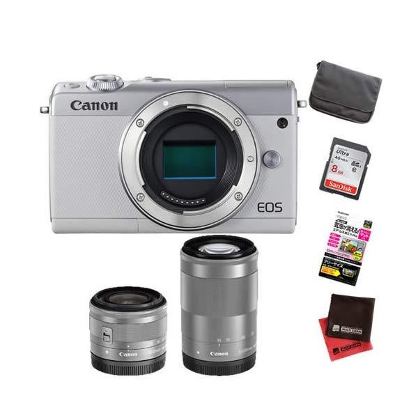 【お買い得セット!】キヤノン EOS M100 ダブルズームキット ミラーレスカメラ [カラー選択式][Canon]【快適家電デジタルライフ】