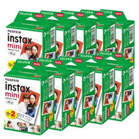 富士フィルム チェキフィルム instax mini 2パック品 JP2(20枚入り)×10個セット [200枚入] (快適家電デジタルライフ)