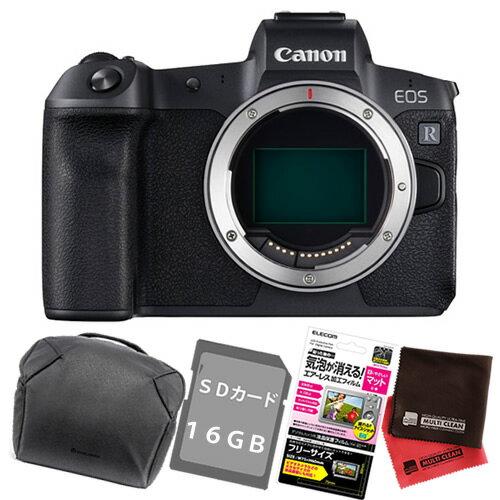 (SD16GB・フィルム・クロス・バッグ付)キヤノン ミラーレスカメラ EOS R ボディーのみ (商品コード:3075C001)(キャノン/Canon)(快適家電デジタルライフ)