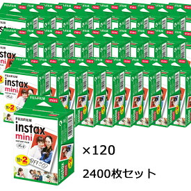 富士フィルム チェキフイルム instax mini 2パック品 JP2(20枚入り)×120個セット [2400枚入] (快適家電デジタルライフ)