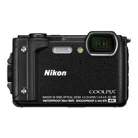 コンパクトデジタルカメラ コンデジ タフカメラ ニコン クールピクス COOLPIX W300 BK ブラック 防水 防塵 耐衝撃 Nikon(快適家電デジタルライフ)
