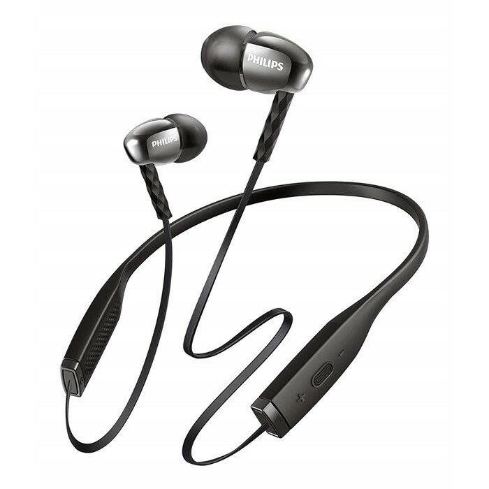 PHILIPS(フィリップス) マイク付ワイヤレスインイヤーヘッドフォン SHB5950BK ブラック [Bluetooth対応][ネックバンド型イヤホン]【快適家電デジタルライフ】