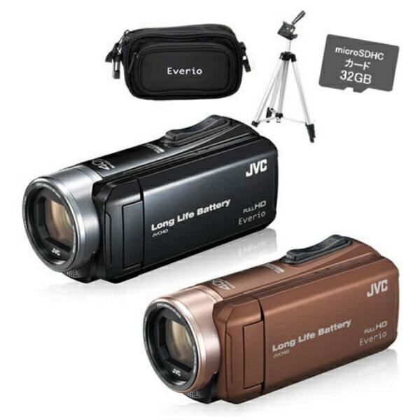 【SD・バッグ・三脚セット】JVCケンウッド GZ-L500 ハイビジョンメモリームービー [Everio/エブリオ][ムービーカメラ][ビデオカメラ][GZL500][カラー選択式]【快適家電デジタルライフ】