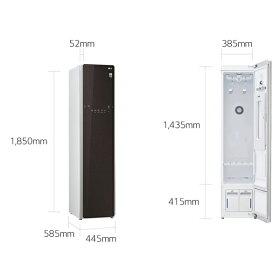 (メーカー直送/配送設置込)(代引き不可)LGエレクトロニクスS3RERブラウンスチームウォッシュ&ドライライフスタイルクローゼット「LGstyler」(快適家電デジタルライフ)