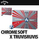 Callaway(キャロウェイ)【ゴルフボール】CHROME SOFT X TRUVIS ボール 1ダース(12個入り)