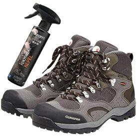 CARABAN(キャラバン)トレッキングシューズ C1_02S (100:グレー) &撥水剤セット(登山靴)(ラッピング不可)(快適家電デジタルライフ)