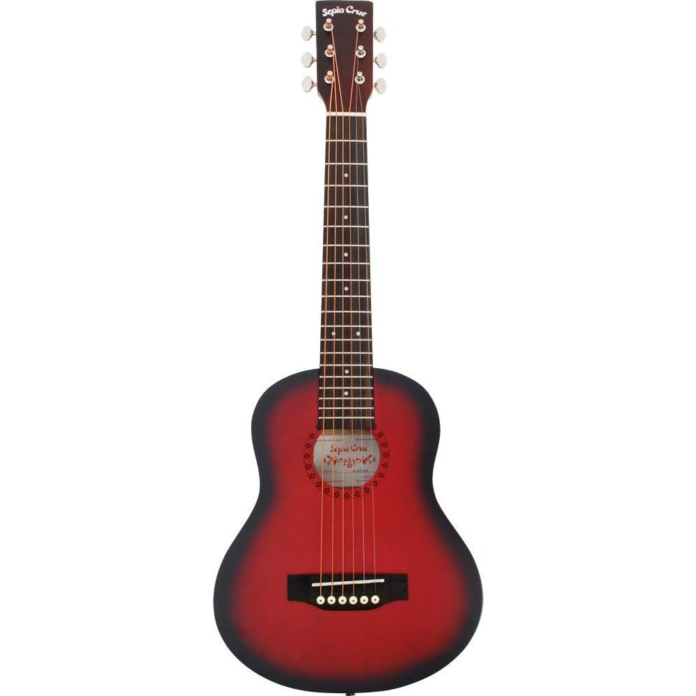 (メーカー直送)(代引不可) SepiaCrue(セピアクルー) ミニアコースティックギター W-60/RDS レッドサンバースト(ソフトケース付) (ラッピング不可)(W60)