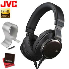 ヘッドホン ハイレゾ JVC HA-SW01 WOOD01 ブラック 黒 & オーディオテクニカ ヘッドホンスタンド AT-HPS700 ハイレゾ対応 ヘッドホン ハイレゾ ハイレゾリューション Hi-Res(快適家電デジタルライフ)
