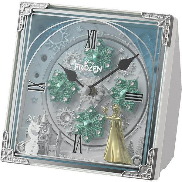 リズム時計 【キャラクター時計】 4RH784MA03 【からくり置時計/アナと雪の女王】【快適家電デジタルライフ】