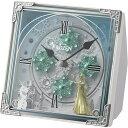 リズム時計 【キャラクター時計】 4RH784MA03 【からくり置時計/アナと雪の女王】