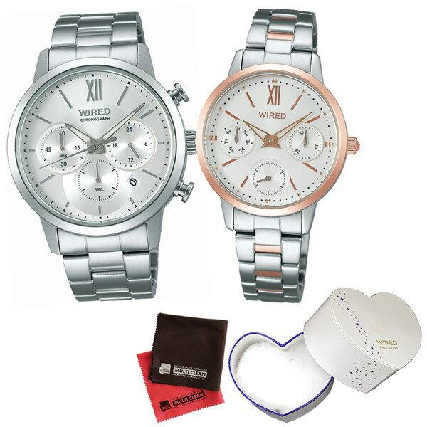 【セット】【国内正規品】[セイコー]SEIKO 腕時計 AGAT414・AGET406 [ワイアード]WIRED ペアスタイル&専用ペア箱&クロス2枚セット【ペアウォッチ】(快適家電デジタルライフ)