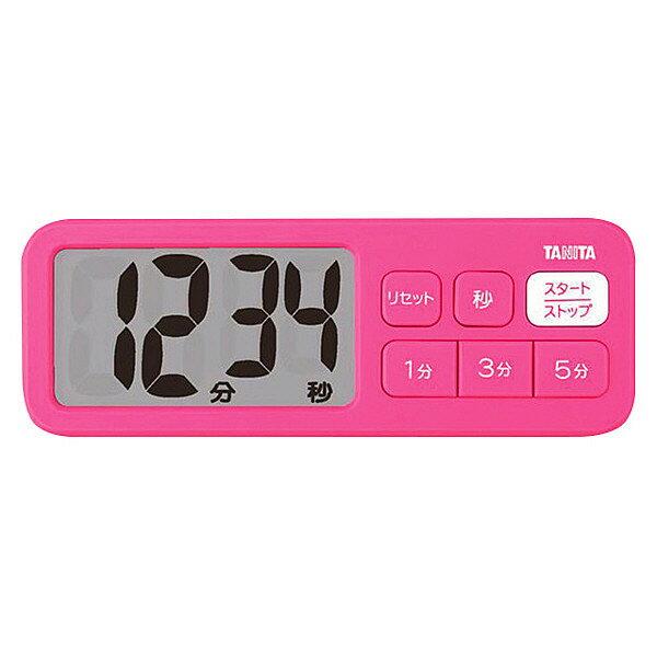 (メール便可:1点まで)タニタ でか見えプラスタイマー TD-395 (ピンク)[TD395][TANITA](快適家電デジタルライフ)