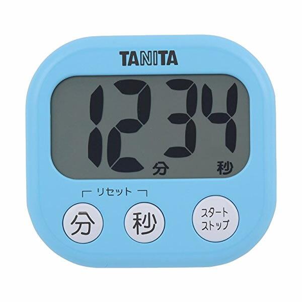 取り寄せ:納期1週間程度(メール便可:3点まで)TANITA[タニタ] でか見えプラスタイマー TD-384 (ブルー)[TD384](快適家電デジタルライフ)