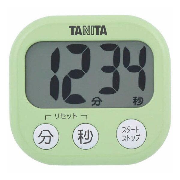 取り寄せ:納期1週間程度(メール便可:3点まで)TANITA[タニタ] でか見えプラスタイマー TD-384 (ピスタチオグリーン) [TD384](快適家電デジタルライフ)