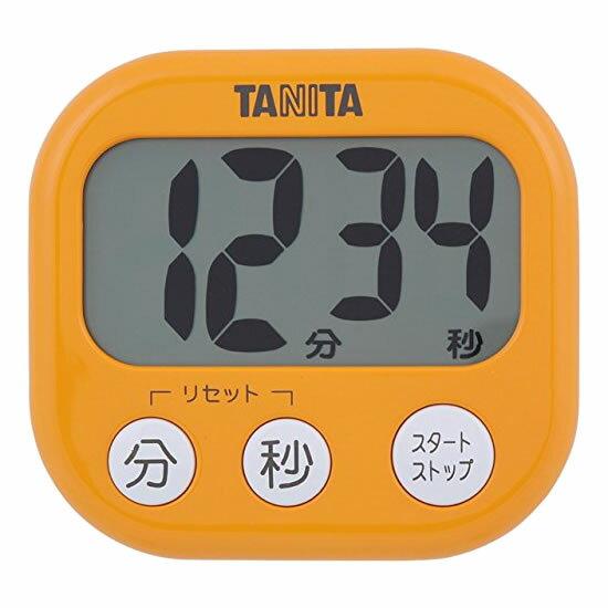 取り寄せ:納期1週間程度(メール便可:3点まで)TANITA[タニタ] でか見えプラスタイマー TD-384 (アプリコットオレンジ)[TD384](快適家電デジタルライフ)