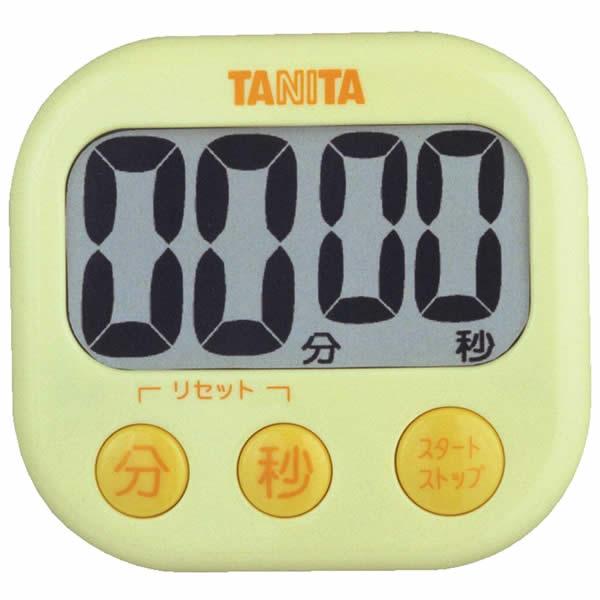 取り寄せ:納期1週間程度(メール便可:3点まで)TANITA[タニタ] でか見えプラスタイマー TD-384 (イエロー) [TD384](快適家電デジタルライフ)