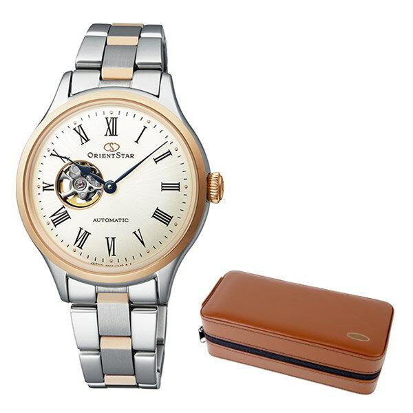 (ケースセット)(国内正規品)(オリエントスター)ORIENTSTAR 腕時計 RK-ND0001S クラシック レディース クラシックセミスケルトン(ステンレスバンド 自動巻き(手巻付) アナログ)(快適家電デジタルライフ)