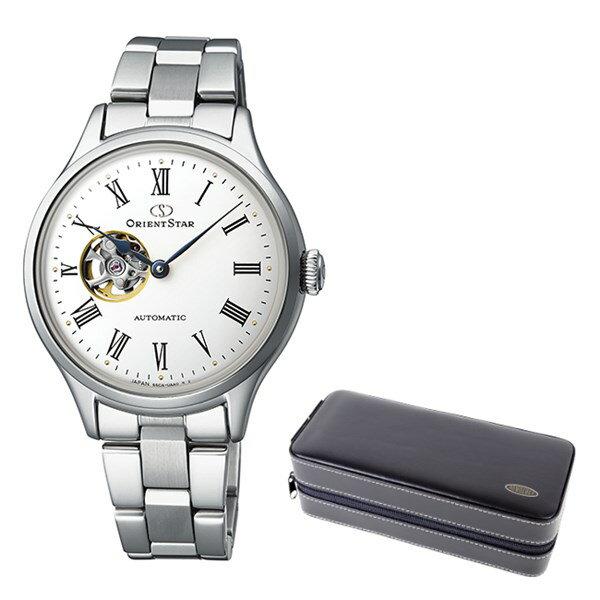 (ケースセット)(国内正規品)(オリエントスター)ORIENTSTAR 腕時計 RK-ND0002S クラシック レディース クラシックセミスケルトン(ステンレスバンド 自動巻き(手巻付) アナログ)(快適家電デジタルライフ)