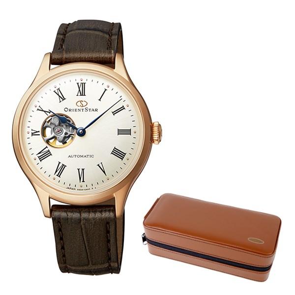 (ケースセット)(国内正規品)(オリエントスター)ORIENTSTAR 腕時計 RK-ND0003S クラシック レディース クラシックセミスケルトン(牛革バンド 自動巻き(手巻付) アナログ)(快適家電デジタルライフ)