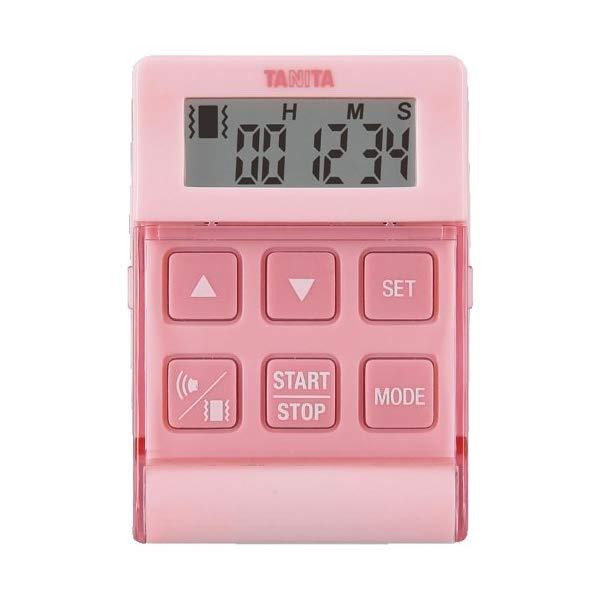 取り寄せ:納期1週間程度(メール便可:2点まで)TANITA[タニタ] デジタルタイマー バイブレーションタイマー24時間計 クイック TD-370N (ピンク) [TD370NPK](快適家電デジタルライフ)