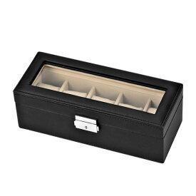 Esprima(エスプリマ) 【時計ケース】 SE-63520BK[SE63520BK] 5本収納合皮ケース【ウォッチケース/腕時計用ケース/コレクションケース】(快適家電デジタルライフ)