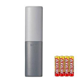モニター電池だけではという声にお応えしたセット TANITA(タニタ) 【ブレスチェッカー】EB-100-GY グレー お口のにおいを手軽にチェック(ブレスケア・口臭対策)(メール便可:1点まで)(快適家電デジタルライフ)