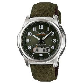 カシオ CASIO 腕時計 ウェーブセプター wave ceptor ソーラー電波時計 WVA-M630B-3AJF (WVAM630B3AJF) クロス/合成皮革バンド アナデジ(国内正規品)(快適家電デジタルライフ)